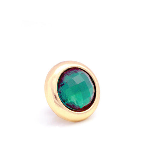 JUNGLE Crystal, Small Gold-Plated Stud