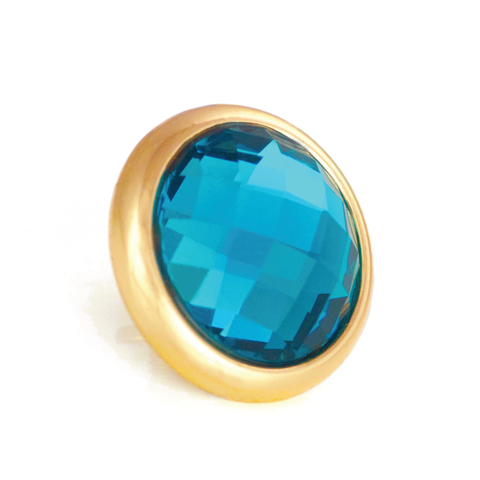 KEY WEST Crystal, Medium Gold-Plated Stud
