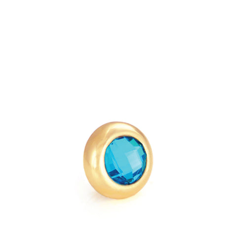 KEY WEST Crystal, Mini Gold-Plated Stud