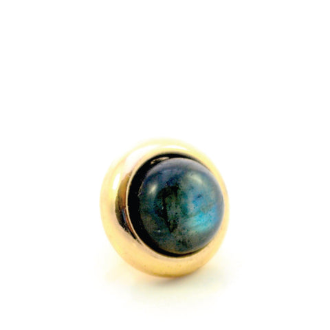 LABRADORITE Gemstone, Intuition, Emotional Balance, Small Gold-Plated Stud