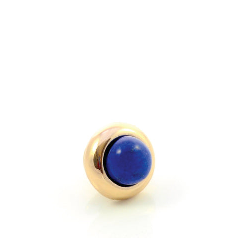 LAPIS LAZULI Gemstone, Wisdom, Courage, Power, Mini Gold-Plated Stud
