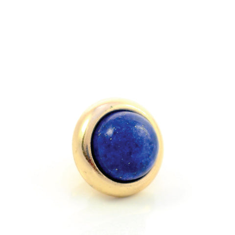 LAPIS LAZULI Gemstone, Wisdom, Courage, Power, Small Gold-Plated Stud