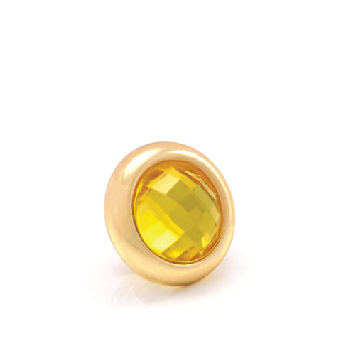LIMONCELLO Crystal, Small Gold-Plated Stud
