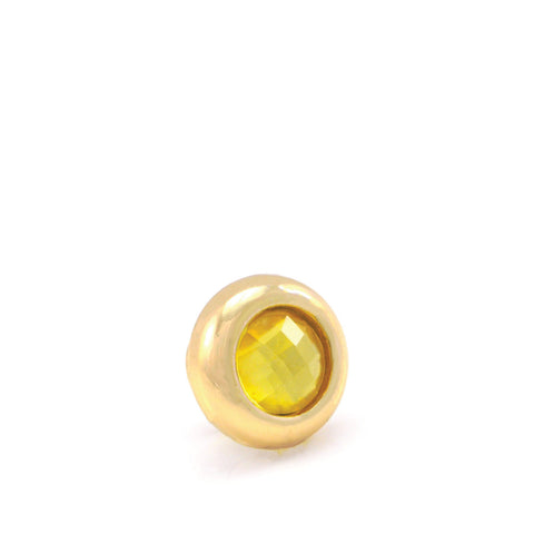 LIMONCELLO Crystal, Mini Gold-Plated Stud