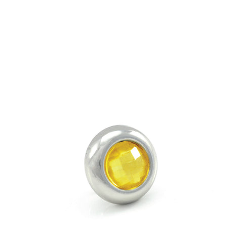 LIMONCELLO Crystal, Mini Silver-Plated Stud