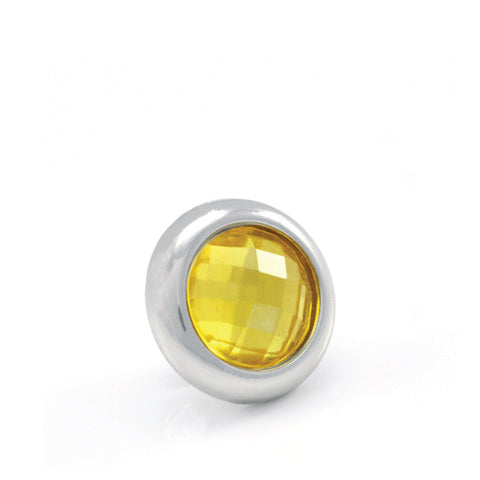 LIMONCELLO Crystal, Small Silver-Plated Stud