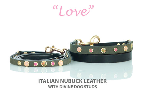 Divine Dog Leash with Gemstones