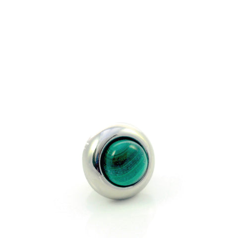 MALACHITE Gemstone, Love, Strength, Inspiration, Mini Silver-Plated Stud