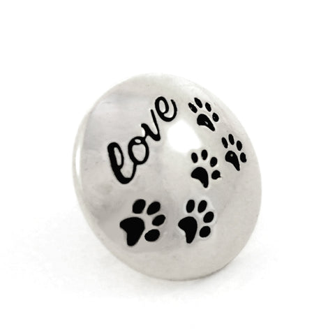 PUPPY LOVE, Medium (19mm) Silver-Plated Stud
