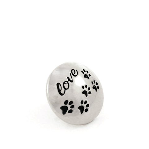 PUPPY LOVE, Small (13mm) Silver-Plated Stud