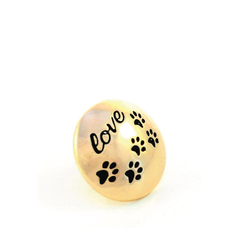 PUPPY LOVE, Small (13mm) Gold-Plated Stud