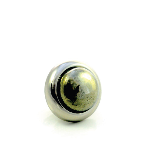 PYRITE Gemstone, Luck, Abundance, Prosperity, Small Silver-Plated Stud