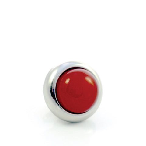 RED AGATE Gemstone, Luck, Courage, Strength, Small Silver-Plated Stud