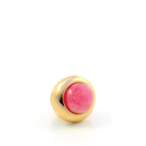 RHODOCHROSITE Gemstone, Self Worth, Joy and Sublime Happiness, Mini Gold-Plated Stud