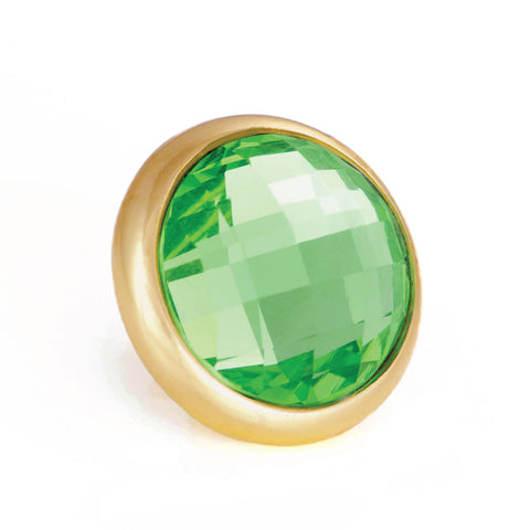 ROLL IN THE GRASS Crystal, Medium Gold-Plated Stud