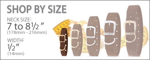 Size Chart for Collars 7 to 8.5 Inches