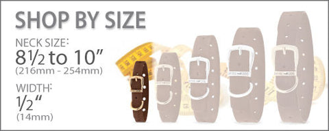 Size chart for Collars 8 1/2 to 10 Inches