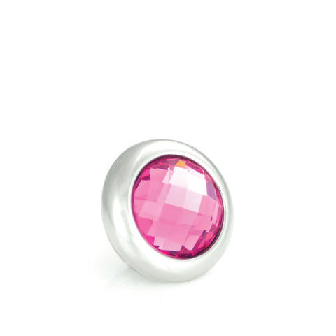 Pink Dog Collar Crystal Stud with Screw Back