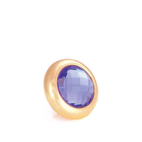 ROYALTY Crystal, Small Gold-Plated Stud