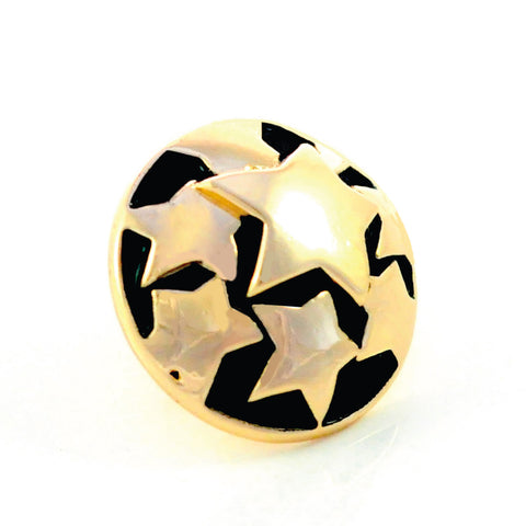 SUPERSTAR, Medium (19mm) Gold-Plated Stud