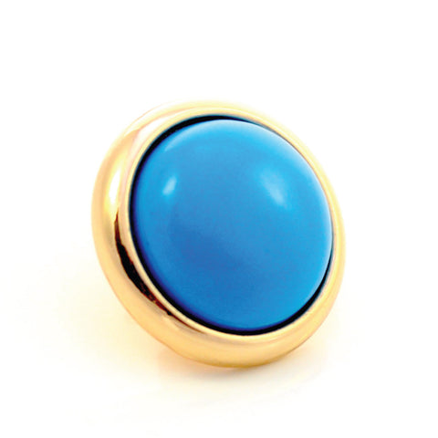 TURQUOISE Gemstone, The Master Healing Stone, Medium Gold-Plated Stud
