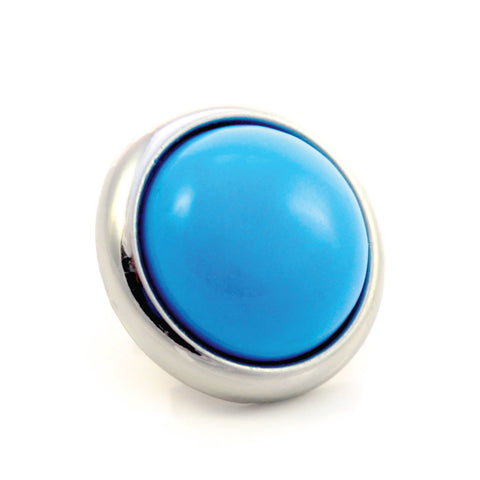 TURQUOISE Gemstone, The Master Healing Stone, Medium Silver-Plated Stud