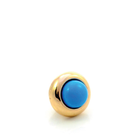TURQUOISE Gemstone, The Master Healing Stone, Mini Gold-Plated Stud