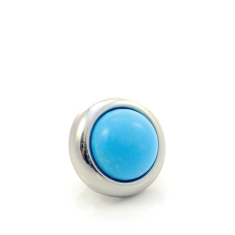 TURQUOISE Gemstone, The Master Healing Stone, Small Silver-Plated Stud