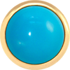 TURQUOISE Gemstone, The Master Healing Stone, Large Gold-Plated Stud