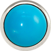 TURQUOISE Gemstone, The Master Healing Stone, Large Silver-Plated Stud