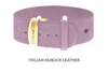Divine Dog Bracelet, Wide, Nubuck Violet-Gold 1 inch Wide (24mm), Adjustable Length