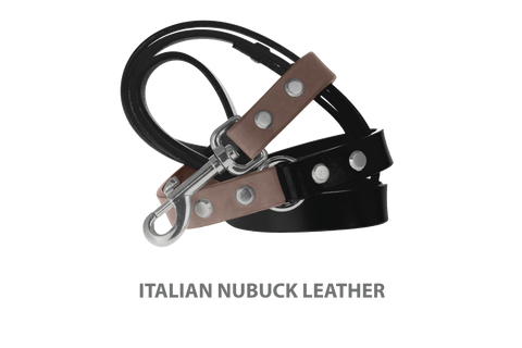 Divine Dog Stud Ready Leash, Ashford Grey-Nubuck with Silver-Plated Buckle $59.99 - $79.99
