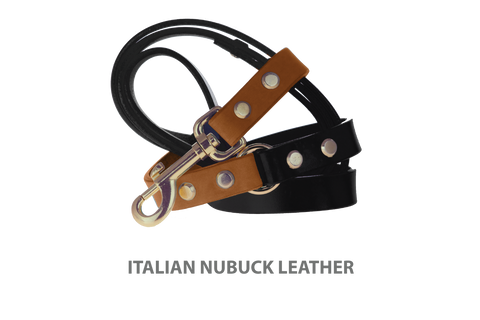 Divine Dog Stud Ready Leash, Latte-Nubuck with Gold-Plated Buckle $59.99 - $79.99