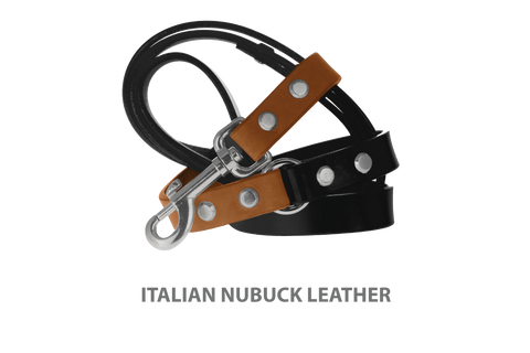 Divine Dog Stud Ready Leash, Latte-Nubuck with Silver-Plated Buckle $59.99 - $79.99