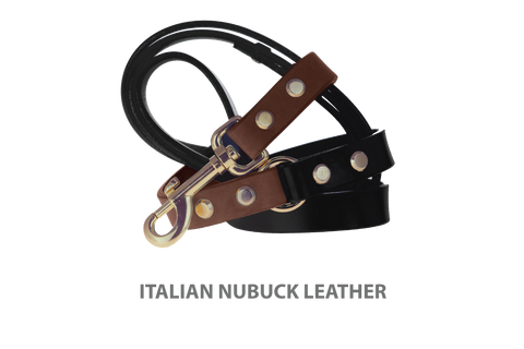 Divine Dog Stud Ready Leash, Mocha-Nubuck with Gold-Plated Buckle $59.99 - $79.99