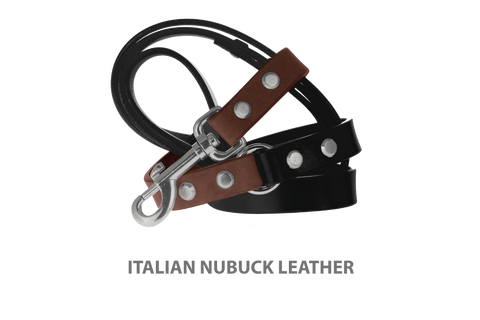 Divine Dog Stud Ready Leash, Mocha-Nubuck with Silver-Plated Buckle $59.99 - $79.99