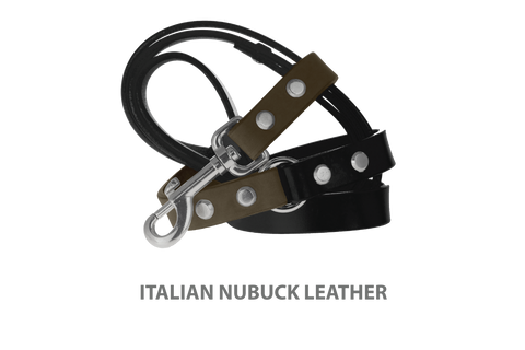 Divine Dog Stud Ready Leash, Moss-Nubuck with Silver-Plated Buckle $59.99 - $79.99