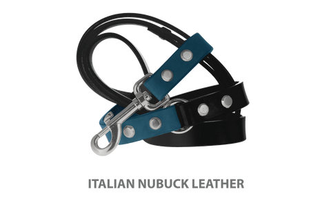 Divine Dog Stud Ready Leash, New England Sea-Nubuck with Silver-Plated Buckle $59.99 - $79.99