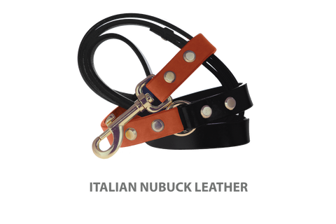 Divine Dog Stud Ready Leash, Tiger Lily-Nubuck with Gold-Plated Buckle $59.99 - $79.99
