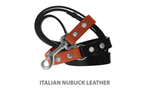 Divine Dog Stud Ready Leash, Tiger Lily-Nubuck with Silver-Plated Buckle $59.99 - $79.99