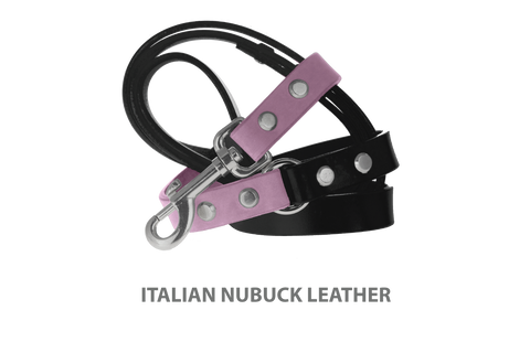 Divine Dog Stud Ready Leash, Violet-Nubuck with Silver-Plated Buckle $59.99 - $79.99
