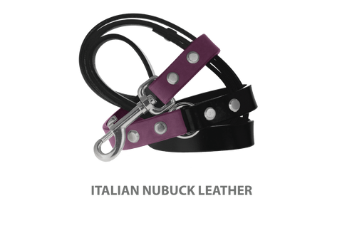 Divine Dog Stud Ready Leash, Yummy Plummy-Nubuck with Silver-Plated Buckle $59.99 - $79.99