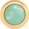 AQUAMARINE Gemstone, Courage, Protection, Truth, Small Gold-Plated Stud