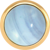 BLUE LACE AGATE Gemstone, Solutions, Encourgement, Uplifting, Medium Gold-Plated Stud