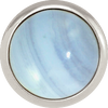 BLUE LACE AGATE Gemstone, Solutions, Encourgement, Uplifting, Medium Silver-Plated Stud