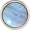 BLUE LACE AGATE Gemstone, Solutions, Encourgement, Uplifting, Large Silver-Plated Stud