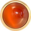 CARNELIAN Gemstone, Creativity, Courage, Medium Gold-Plated Stud
