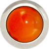 CARNELIAN Gemstone, Creativity, Courage, Small Silver-Plated Stud