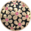FORGET-ME-NOT PINK, Medium (19mm) Gold-Plated Stud