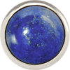 LAPIS LAZULI Gemstone, Wisdom, Courage, Power, Large Silver-Plated Stud